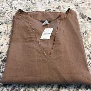 J.Crew light brown tunic